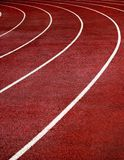 Race Track Turn. Lanes of a race track with a curve at the end royalty free stock images