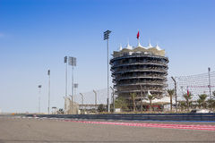 Race Track VIP Tower. VIP Tower of a Formula one race track taken at Bahrain International Circuit royalty free stock image