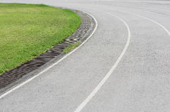 Race track on white background, clipping path royalty free stock photography