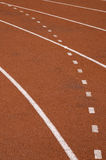 Race track. White lines on the track Royalty Free Stock Photography