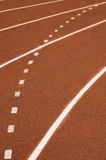 Race track. White lines on the track Stock Photo