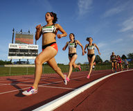 Race Track Women Long Distance Stock Images