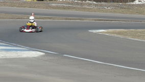 Race turn with  kartings stock video