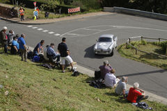 Race in the village roads Stock Images