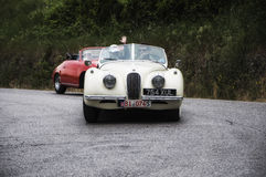 Race vintage car one thousand miles 2015 Royalty Free Stock Photography