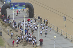 Race on the Virginia Beach Boardwalk Stock Image