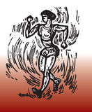 Race walk. Hand drawn illustration of sport theme race walk royalty free illustration