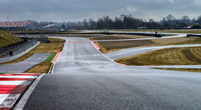 Race way track line. For formula competition royalty free stock photo