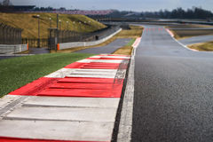 Race way track line. For formula competition Royalty Free Stock Image