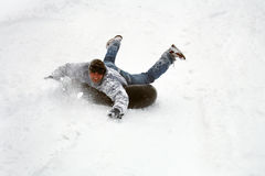 Race in winter Stock Photography