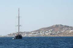 Race Yacht - Mykonos, Greece Stock Photography