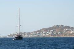 Race Yacht - Mykonos, Greece Stock Photography