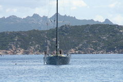 Race Yacht - Sardinia Stock Photography