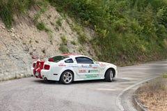 Raceauto Ford Mustang Stock Afbeeldingen