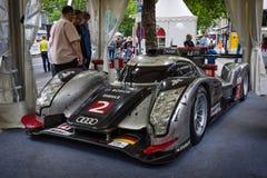Raceauto, het Prototype van Le Mans (LMP), Audi R18 TDI ultra, 2011 Ontwerper Ulrich Baretzky Stock Afbeeldingen