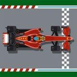 Raceauto op hoofd royalty-vrije illustratie