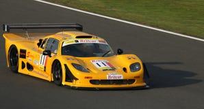 Raceauto op Spoor Stock Afbeelding