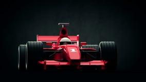 Raceauto op zwarte achtergrond royalty-vrije illustratie