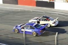 Raceauto's Stock Afbeelding