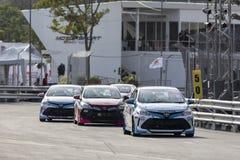 Raceauto's in Toyota Motorsport Stock Foto