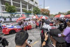 Raceauto's in Toyota Motorsport Royalty-vrije Stock Afbeelding