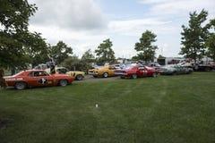 Raceauto'sdeelnemers Stock Foto's