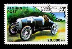 Raceauto vanaf 1920, Uitstekende raceauto's serie, circa 1999 Royalty-vrije Stock Foto's