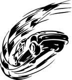 Raceauto - vectorillustratie Stock Afbeelding