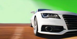 Raceauto in wit Royalty-vrije Stock Foto