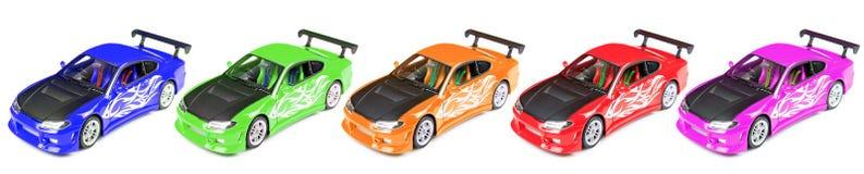 Raceautoauto's Stock Afbeelding
