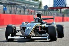 Racebil för formel 3 i Monza racespår Royaltyfri Foto
