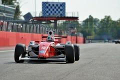 Racebil för formel 3 i Monza racespår Fotografering för Bildbyråer