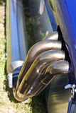 racecar的排气支管 库存照片