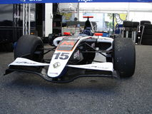 Racecar. A world series single seater parked under the paddock's tent after the race during the GT Open event at Monza 2008 Royalty Free Stock Photo