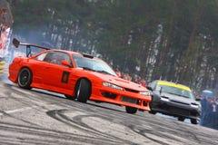 Racecar Antrieb Lizenzfreies Stockfoto