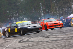 Racecar Antrieb Stockfotos
