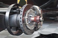 Racecar brake disc Stock Photo