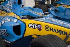 Racecar chassi renault Arkivfoton