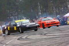 racecar driva Arkivfoton