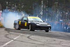 racecar driva royaltyfri fotografi