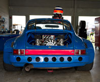 Racecar Engine stock photo