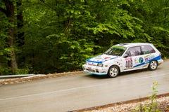 Racecar on Miskolc Rally Hungary. 2016 Stock Photography