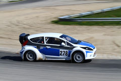 Racecar in motion Royalty Free Stock Photos