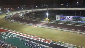 Racecourse κασσίτερου Sha τη νύχτα στοκ εικόνα