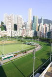 Racecourse in the city. Happy Valley Racecourse is one of the two racecourses for horse racing in Hong Kong Royalty Free Stock Photo