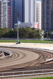 Racecourse Racing Track. In Sha Tin Racecourse, HongKong Stock Images