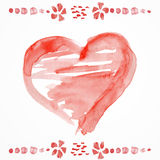 Raced watercolor St. valentine's cards Stock Photography