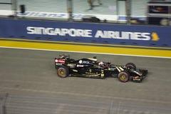 Raceday principal de la fórmula 1 de Singapur Fotos de archivo libres de regalías