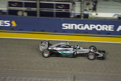 Raceday principal de la fórmula 1 de Singapur Imagen de archivo libre de regalías