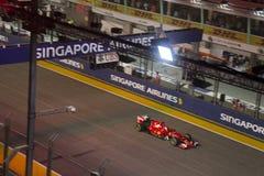 Raceday principal de la fórmula 1 de Singapur Imagenes de archivo